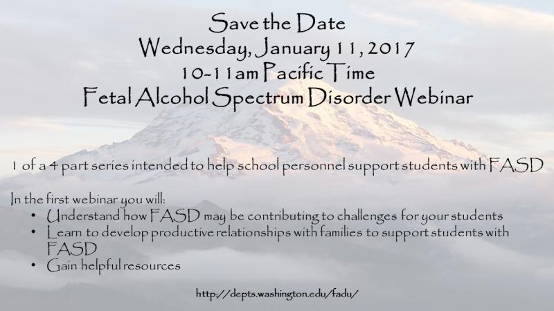FASD Webinar 1.11.2017